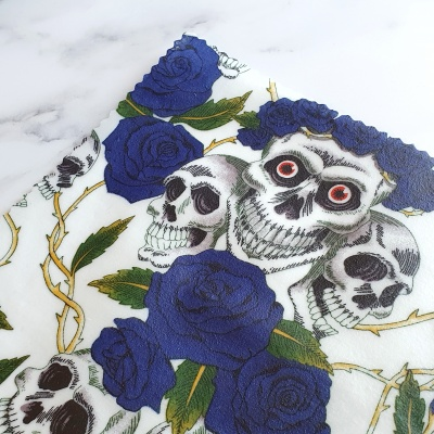 Blue Rose Day of the Dead Single Wrap
